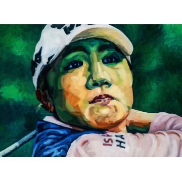 FIGURES TRAGIQUES - La joueuse de golf -
