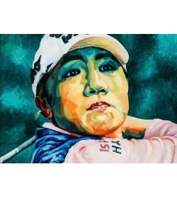 FIGURES TRAGIQUES - La joueuse de golf - variation 01